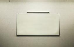 Tarjeta blanca en el aprendizaje de la clase Imagen de archivo