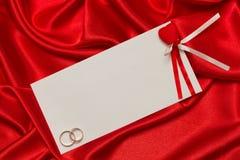 Tarjeta blanca para la enhorabuena Foto de archivo