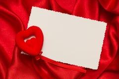 Tarjeta blanca para la enhorabuena Imagen de archivo