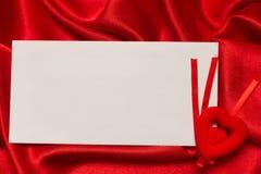 Tarjeta blanca para la enhorabuena Foto de archivo libre de regalías