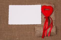 Tarjeta blanca para la enhorabuena Imagen de archivo libre de regalías