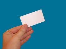 Tarjeta blanca vacía Fotografía de archivo libre de regalías