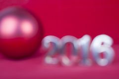 Tarjeta borrosa la Navidad 2016 del fondo Fotos de archivo