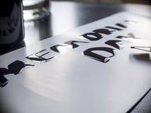 Tarjeta brillante de los posts de la caligrafía y de las letras del Memorial Day Extremadamente primer Fotografía de archivo