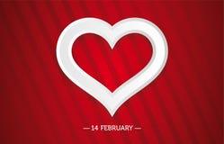 Tarjeta brillante del día de San Valentín con un corazón Fotos de archivo libres de regalías