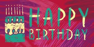 Tarjeta brillante del feliz cumpleaños Fotografía de archivo