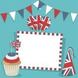 Tarjeta británica del partido Foto de archivo