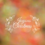 Tarjeta caligráfica de la Navidad Imagen de archivo libre de regalías
