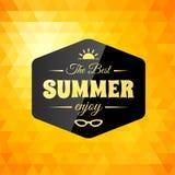 Tarjeta caligráfica diseñada retra del diseño del verano Imagen de archivo