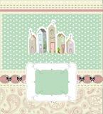Tarjeta casera dulce casera Ilustración del vector Imagen de archivo libre de regalías