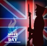 Tarjeta celebradora en honor del día de veteranos de la guerra Imágenes de archivo libres de regalías