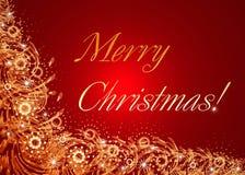 Tarjeta celebradora roja de la Navidad Foto de archivo libre de regalías