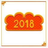 Tarjeta china feliz del Año Nuevo en estilo oriental Imagenes de archivo