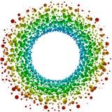 Tarjeta circular de la invitación del marco de las burbujas stock de ilustración