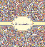 Tarjeta colorida de la invitación Foto de archivo libre de regalías