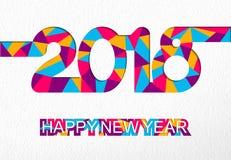 Tarjeta colorida del número del recorte de la Feliz Año Nuevo 2018 stock de ilustración