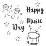 Tarjeta común de la colección para el día de la música