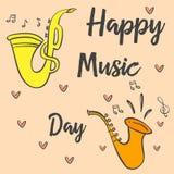 Tarjeta común del día de la música de la colección