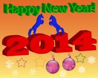 Tarjeta con Año Nuevo Fotografía de archivo libre de regalías