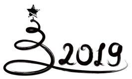 Tarjeta con el árbol de navidad Fotografía de archivo libre de regalías