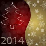 Tarjeta con el árbol de navidad Foto de archivo