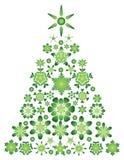 Tarjeta con el árbol de navidad verde Fotografía de archivo libre de regalías