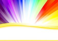 Tarjeta con el arco iris colorido Fotografía de archivo