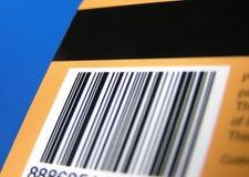 Tarjeta con el código de barras y la raya Fotos de archivo libres de regalías