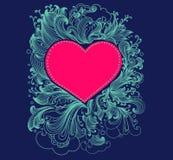 Tarjeta con el corazón Fotografía de archivo libre de regalías
