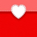 Tarjeta con el corazón Imágenes de archivo libres de regalías