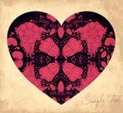 Tarjeta con el corazón Foto de archivo libre de regalías