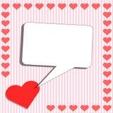 Tarjeta con el corazón y la caja de grito Fotografía de archivo libre de regalías