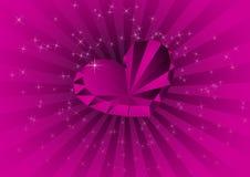 Tarjeta con el diamante violeta Stock de ilustración