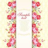 Tarjeta con el estampado de flores Fotos de archivo libres de regalías