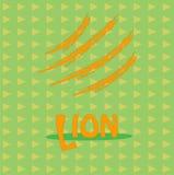 Tarjeta con el león de la inscripción para su negocio Imagen de archivo libre de regalías