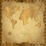 Tarjeta con el mapa del vintage Fotografía de archivo