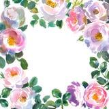 Tarjeta con el ornamento floral Imágenes de archivo libres de regalías