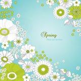 Tarjeta con el ornamento floral Imagenes de archivo