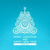 Tarjeta con el árbol de navidad Imágenes de archivo libres de regalías