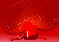 Tarjeta con el rectángulo en forma de corazón Ilustración del Vector