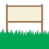 Tarjeta con el soporte de la hierba verde y de la calle ilustración del vector