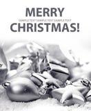 Tarjeta con Feliz Navidad Fotografía de archivo libre de regalías