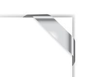 Tarjeta con la cinta del cromo Stock de ilustración