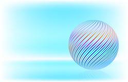 Tarjeta con la decoración de la Navidad, bola de cristal multicolora foto de archivo