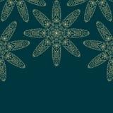 Tarjeta con la decoración floral Imagenes de archivo