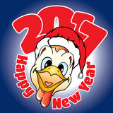 Tarjeta con la enhorabuena en un Año Nuevo Fotografía de archivo libre de regalías
