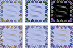 Tarjeta con la flor tarjeta con las flores para escribir a texto en varios el ver Imagen de archivo libre de regalías