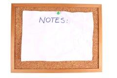 Tarjeta con la hoja en blanco Fotos de archivo
