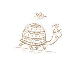 Tarjeta con la tortuga Foto de archivo libre de regalías