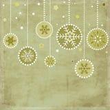Tarjeta con las bolas de la Navidad ilustración del vector